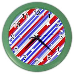 American Motif Wall Clock (color) by dflcprints