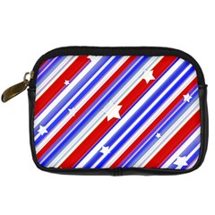 American Motif Digital Camera Leather Case by dflcprints