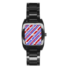 American Motif Stainless Steel Barrel Watch by dflcprints