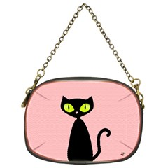One Cool Cat Chain Purse (one Side) by CrackedRadish
