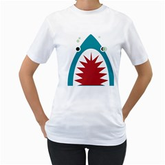 Shark By X   Women s T Shirt (white) (two Sided)   Zer92qbic42e   Www Artscow Com Front