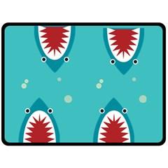 Shark By X   Double Sided Fleece Blanket (large)   8n4k49s36s91   Www Artscow Com 80 x60 Blanket Front