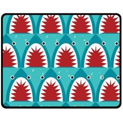 Shark By X   Double Sided Fleece Blanket (medium)   U9i0zjx1kbv1   Www Artscow Com 60 x50 Blanket Front
