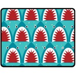 shark - Double Sided Fleece Blanket (Medium)