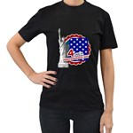 usa - Women s T-Shirt (Black) (Two Sided)