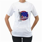 usa - Women s T-Shirt (White) (Two Sided)