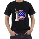 usa - Men s T-Shirt (Black) (Two Sided)