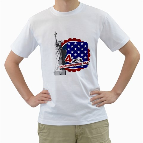 Usa By Usa   Men s T Shirt (white)    I4sx724tdja5   Www Artscow Com Front