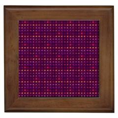 Funky Retro Pattern Framed Ceramic Tile by SaraThePixelPixie