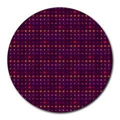 Funky Retro Pattern 8  Mouse Pad (round) by SaraThePixelPixie