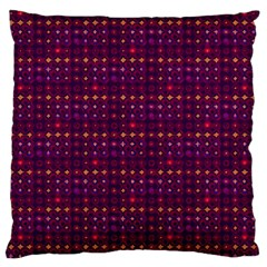 Funky Retro Pattern Large Cushion Case (two Sided)  by SaraThePixelPixie