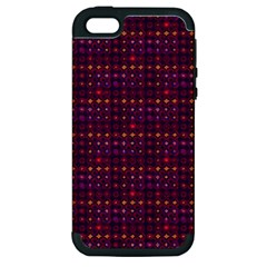 Funky Retro Pattern Apple Iphone 5 Hardshell Case (pc+silicone) by SaraThePixelPixie