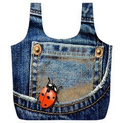 Blue Jean Butterfly Reusable Bag (xl) by AlteredStates
