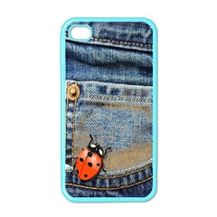 Blue Jean Butterfly Apple Iphone 4 Case (color) by AlteredStates