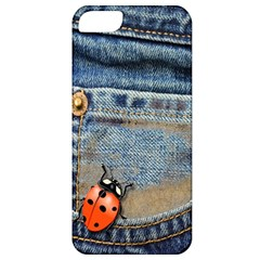 Blue Jean Butterfly Apple Iphone 5 Classic Hardshell Case by AlteredStates