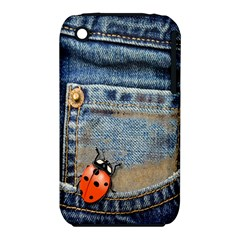 Blue Jean Butterfly Apple Iphone 3g/3gs Hardshell Case (pc+silicone) by AlteredStates