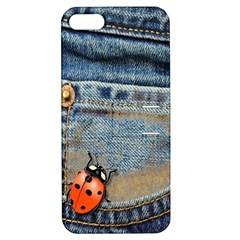 Blue Jean Butterfly Apple Iphone 5 Hardshell Case With Stand by AlteredStates
