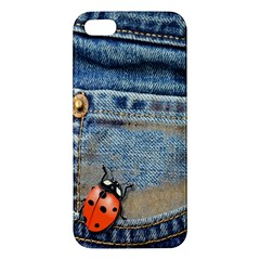 Blue Jean Butterfly Iphone 5s Premium Hardshell Case by AlteredStates