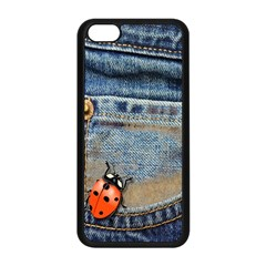 Blue Jean Butterfly Apple Iphone 5c Seamless Case (black) by AlteredStates