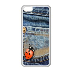 Blue Jean Butterfly Apple Iphone 5c Seamless Case (white) by AlteredStates