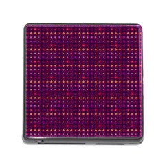 Funky Retro Pattern Memory Card Reader With Storage (square) by SaraThePixelPixie