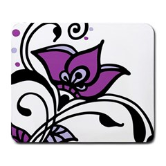 Awareness Flower Large Mouse Pad (rectangle) by FunWithFibro