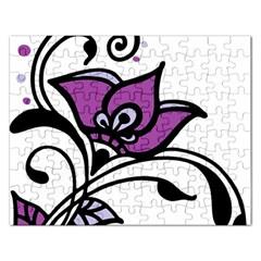 Awareness Flower Jigsaw Puzzle (rectangle)