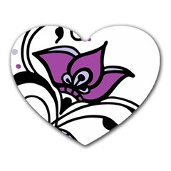 Awareness Flower Mouse Pad (heart) by FunWithFibro