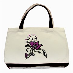 Awareness Flower Twin Sided Black Tote Bag by FunWithFibro