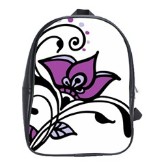 Awareness Flower School Bag (large) by FunWithFibro