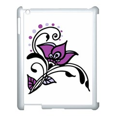 Awareness Flower Apple Ipad 3/4 Case (white) by FunWithFibro