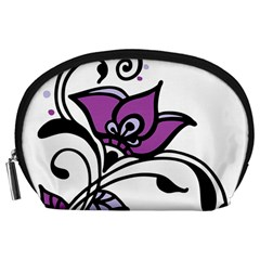 Awareness Flower Accessory Pouch (large) by FunWithFibro