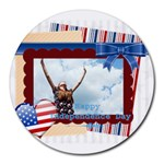 usa - Collage Round Mousepad