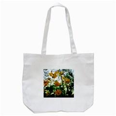 Yellow Flowers Tote Bag (White)