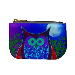 Moon Owl  Coin Change Purse by SaraThePixelPixie
