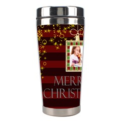 Christmas By Joely   Stainless Steel Travel Tumbler   Ayagk7pher4r   Www Artscow Com Left