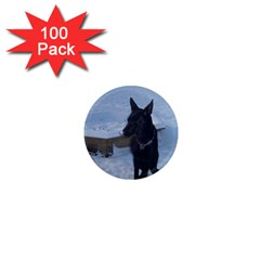 Snowy Gsd 1  Mini Button Magnet (100 Pack) by StuffOrSomething