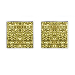 Gold Plated Ornament Cufflinks (square) by dflcprints
