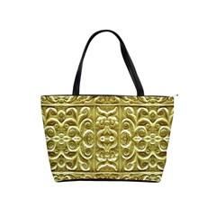 Gold Plated Ornament Large Shoulder Bag by dflcprints