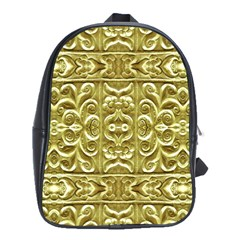 Gold Plated Ornament School Bag (large) by dflcprints