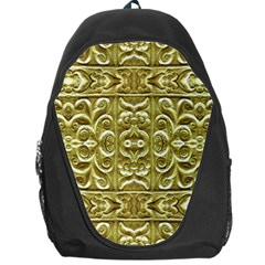 Gold Plated Ornament Backpack Bag by dflcprints