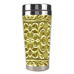Gold Plated Ornament Stainless Steel Travel Tumbler by dflcprints