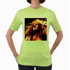 Golden God Women s T-shirt (Green)