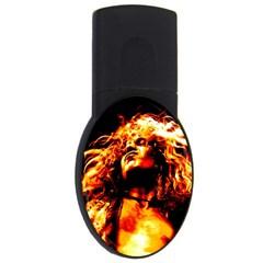 Golden God 2GB USB Flash Drive (Oval) by SaraThePixelPixie
