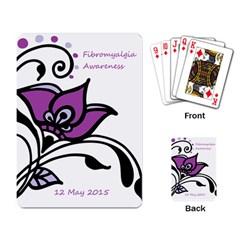 2015 Awareness Day Playing Cards Single Design by FunWithFibro