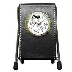 Pin Up Stationery Holder Clock