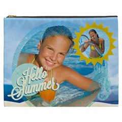 Summer By Summer Time    Cosmetic Bag (xxxl)   Kih1z4by8k3l   Www Artscow Com Front