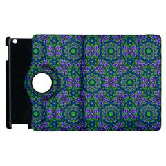 Retro Flower Pattern  Apple iPad 2 Flip 360 Case by SaraThePixelPixie