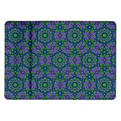 Retro Flower Pattern  Samsung Galaxy Tab 10 1  P7500 Flip Case by SaraThePixelPixie