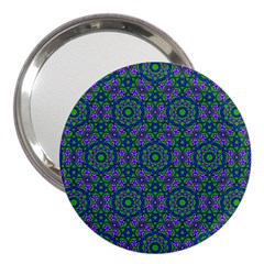Retro Flower Pattern  3  Handbag Mirror by SaraThePixelPixie